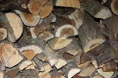 Firewood For The Winter, Stacks Of Firewood, Pile Of Firewood. poster