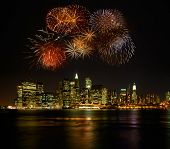 picture of new york night  - Firework over new york - JPG
