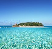 stock photo of pacific islands  - Amazing Fiji island and clear sea - JPG