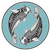picture of koi tattoo  - Zodiac signs  - JPG