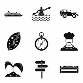 Movement Icons Set. Simple Set Of 9 Movement Icons For Web Isolated On White Background poster