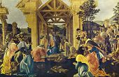 Постер, плакат: Sandro Botticelli The Adoration of the Kings Reproduction from illustrated Encyclopedia