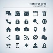 Simple Stylish Outline Icon Set For Web And Mobile. Contacts And Chat Icons. Social Media Infographi poster