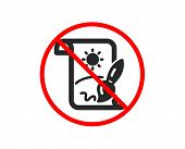 No Or Stop. Creative Painting Brush Icon. Creativity Sign. Graphic Art Symbol. Prohibited Ban Stop S poster