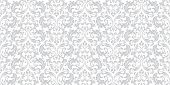 Floral Pattern. Vintage Wallpaper In The Baroque Style. Seamless Vector Background. White And Grey O poster