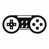 Video Game Joystick Icon. Simple Illustration Of Video Game Joystick Vector Icon For Web Design Isol poster