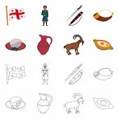 Vector Design Of Culture And Sightseeing Icon. Collection Of Culture And Originality Vector Icon For poster