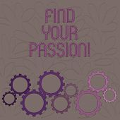 Handwriting Text Find Your Passion. Concept Meaning Encourage Showing Find Their Dream. poster