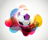Abstract colorful football banner