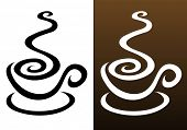 foto of coffee-cup  - coffee cup icons in 2 colours - JPG