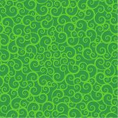 Seamless green swirls pattern