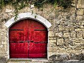 Medieval Red Door poster