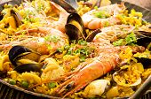 picture of cuttlefish  - seafood paella - JPG