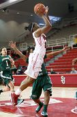 NEW YORK-NOV 3: St. John's Red Storm guard Keylantra Langley (20) shoots over the Farmingdale Rams a