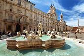 stock photo of stone sculpture  - Piazza Navona - JPG