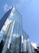 stock photo of high-rise  - Glass building taken in the downtown business district of Tampa - JPG