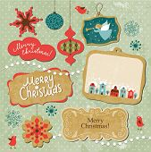 pic of christmas angel  - Set of Vintage Christmas and New Year elements - JPG