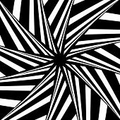 Rotation illusion. Abstract design. Vector art.
