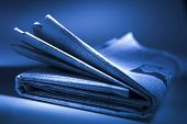 stock photo of current affairs  - Folded Newspaper - JPG