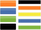 pic of colorful banner  - set of nine different colorful banners for web design - JPG