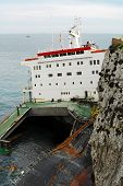 pic of cruise ship  - shipwreck one ship in Spain in Gibraltar - JPG