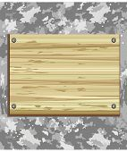 stock photo of corbel  - wooden board on the gray grunge background - JPG