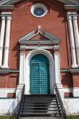 picture of exaltation  - Door of exaltation of the Cross cathedral in Brusensky monastery Kolomna Kremlin Russia - JPG