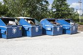 stock photo of dumpster  - dumpsters used for recycling - JPG