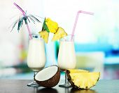 foto of pina-colada  - Pina colada drink in cocktail glass - JPG