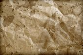 pic of flabby  - Crushed paper texture  of old paper background - JPG