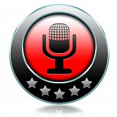 live on air radio podcast music broadcast live stream broadcasting icon or button