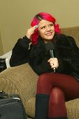 SOLANA BEACH, CA - JAN. 15: Allison Iraheta is interviewed backstage prior to her performance on Jan