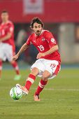 VIENNA,  AUSTRIA - MARCH 22 Veli Kavlak (#19 Austria) kicks the ball during the world cup qualifier