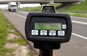 image of mph  - Police radar speed control instrument at highway - JPG