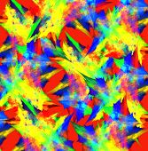 Colorful Abstract Background In Red And Yellow. Computer Generated Graphics.