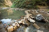 stock photo of groundwater  - Environmental pollution in the Himalayas - JPG