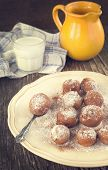 Sugar And Cinnamon Fritters.