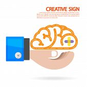 picture of left brain  - Creative brain and business concept  - JPG