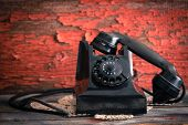 stock photo of rotary dial telephone  - Old - JPG