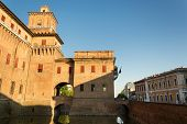 stock photo of ferrara  - View of the Estensi - JPG