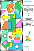 picture of trapezoid  - Educational visual math puzzle - JPG