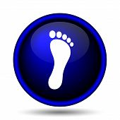 image of webbed feet white  - Foot print icon - JPG