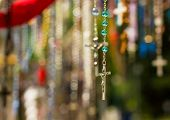 picture of jesus sign  - Christian crosses with image of Jesus in Lourdes - JPG