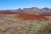 foto of deserted island  - deserted landscape of teide national park on tenerife - JPG