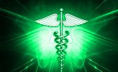 pic of sceptre  - digital illustration of 3d medical icon on colored background - JPG