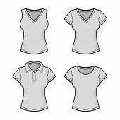 pic of v-neck collar  - Vector - JPG