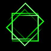 foto of neon green  - green  neon square vector background - JPG