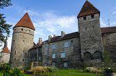 stock photo of olaf  - View on towers of old Tallinn castle ESTONIA - JPG