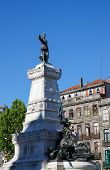 stock photo of duke  - Monument to Infante Dom Henrique de Avis duke of Viseu also known as Prince Henry the Navigator in Porto Portugal - JPG