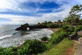 pic of tanah  - Coast near Tanah Lot at sunny day Bali Indonesia - JPG